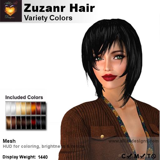 A&A Zuzanr Hair Variety Colors-pic