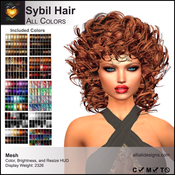 A&A Sybil Hair All Colors-pic