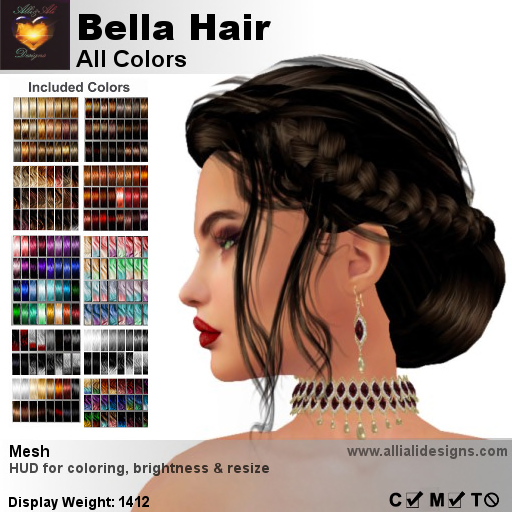 A&A Bella Hair All Colors-pic