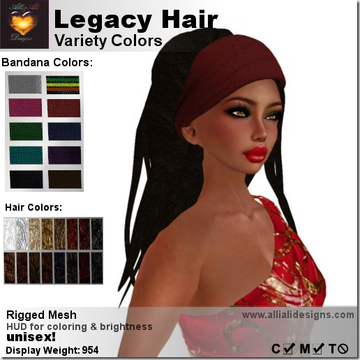 A&A Legacy Hair Variety Colors-pic