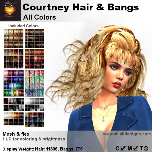A&A Courtney Hair All Colors-pic