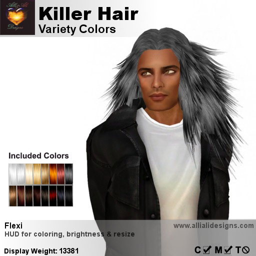A&A Killer Hair Variety Colors-pic