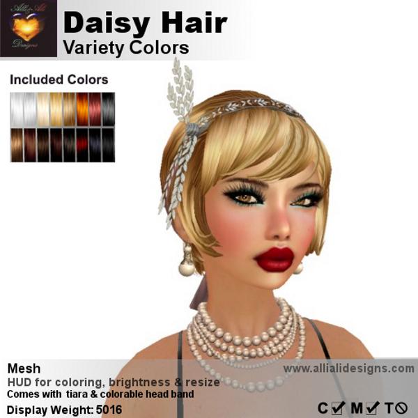A&A Daisy Hair Variety Colors-pic