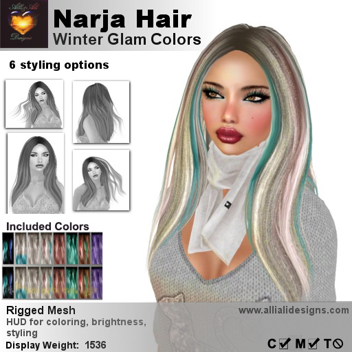 A&A Narja Hair Winter Glam Colors-pic