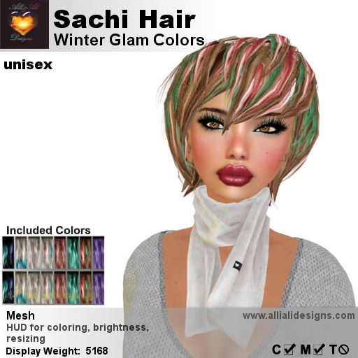 A&A Sachi Hair Winter Glam Colors-pic